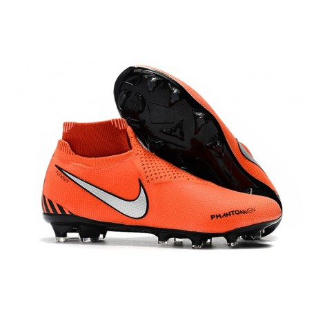 New Nike Phantom Vision Elite DF FG Soccer Boots - Orange Black Silver