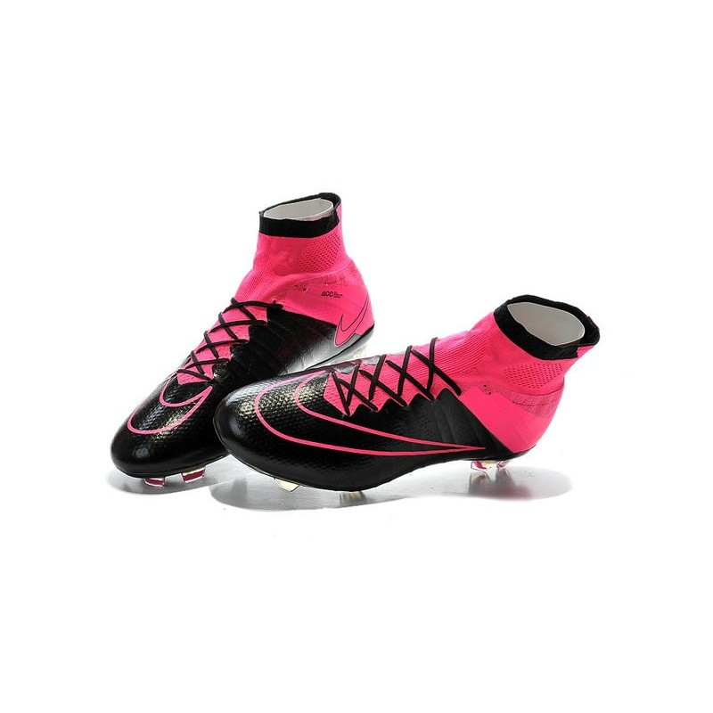New 2015 Nike Mercurial Superfly Iv FG Football Cleats Leather Hyper Pink Black