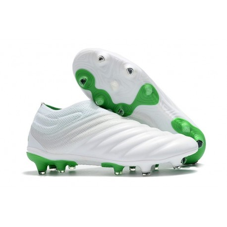 adidas Copa 19+ FG Firm Ground Soccer Cleats - White Green