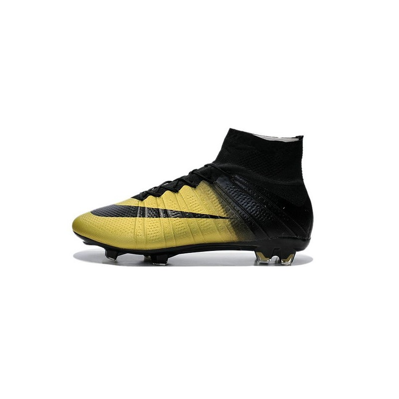 New 2015 Ronaldo Nike Mercurial Superfly Iv FG Football Cleats CR7 Gold Black