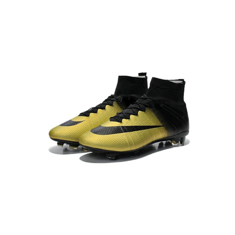 409b1197f New 2015 Ronaldo Nike Mercurial Superfly Iv FG Football Cleats CR7 Gold  Black