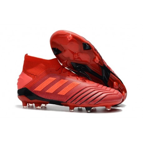 adidas Predator 19.1 FG Soccer Cleat in Red