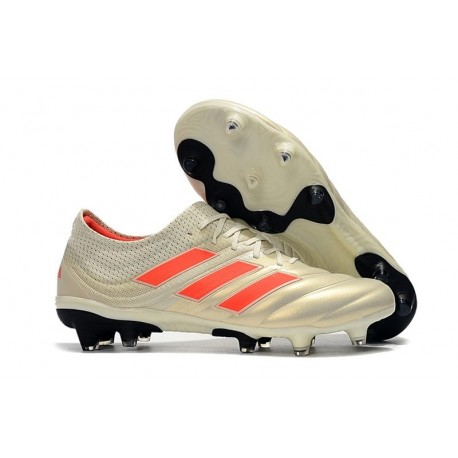 New Adidas Copa 19.1 FG Soccer Boots - White Core Red