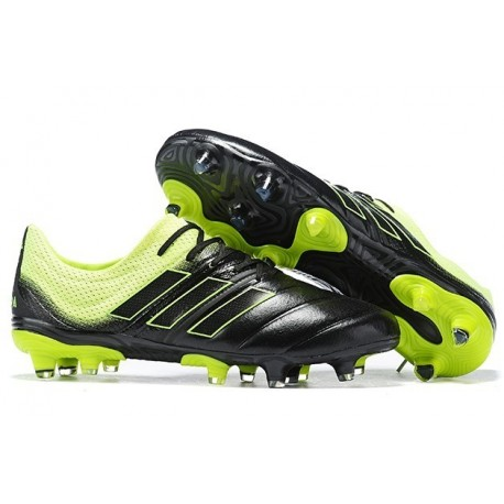 New Adidas Copa 19.1 FG Soccer Boots - Core Black Solar Yellow