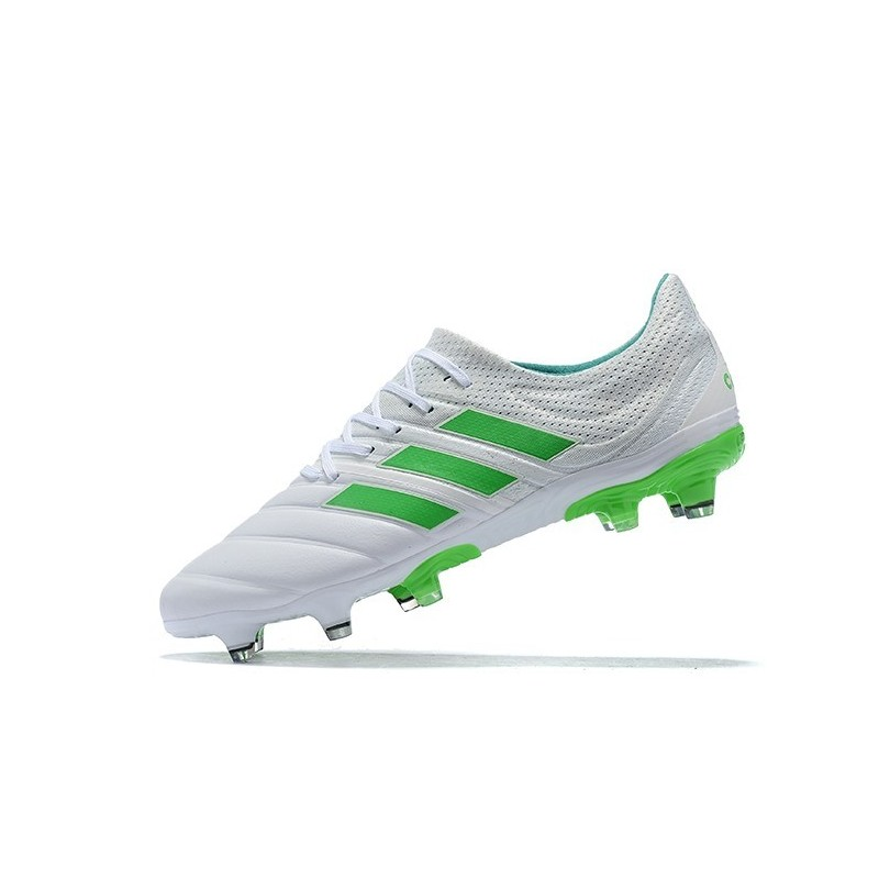 New Adidas Copa 19 1 Fg Soccer Boots White Green