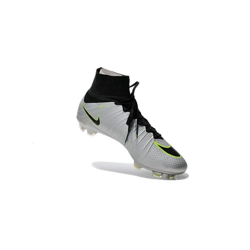 New 2015 Nike Mercurial Superfly Iv FG Football Cleats Silver Black Volt