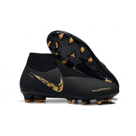 New Nike Phantom Vision Elite DF FG Soccer Boots - Black Lux