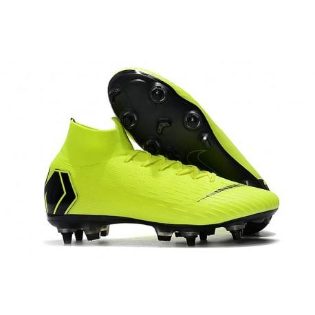 Nike Mercurial Superfly VI Elite Anti-Clog SG-Pro Boots Volt Black