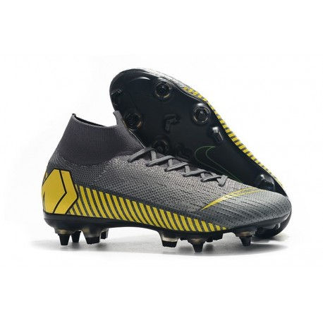 Nike Mercurial Superfly 6 Elite AC SG-Pro Cleats - Grey Yellow