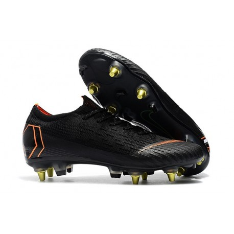 Nike Mercurial Vapor XII Elite Anti-Clog SG-Pro Black Orange