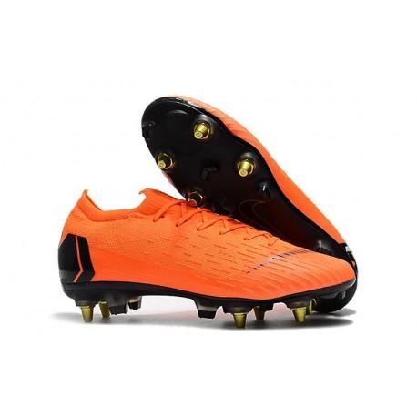 Nike Mercurial Vapor XII Elite Anti-Clog SG-Pro Orange Black