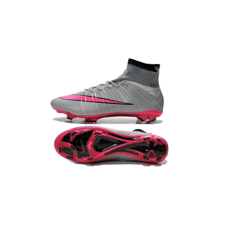 Nike 2015 Soccer Boot Mercurial Superfly 4 FG ACC Wolf Grey Hyper Pink Black