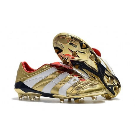 adidas Predator Accelerator Electricity FG Boot - Golden White Red