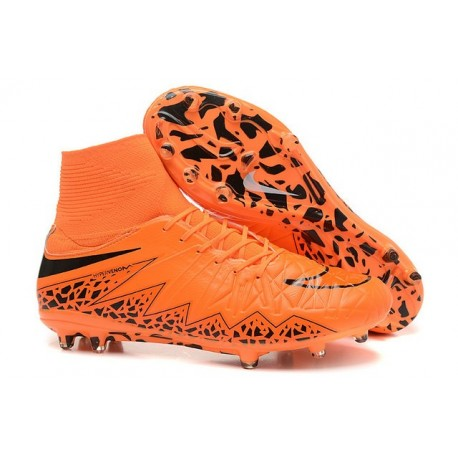 New 2015 Football Boots Nike Hypervenom Phantom 2 FG ACC Orange Black