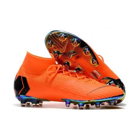 Nike Mercurial Superfly VI 360 Elite AG-Pro Cleats Orange Black