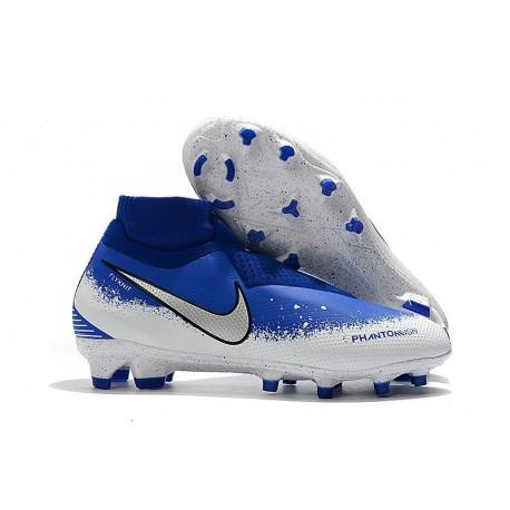 New Nike Phantom Vision Elite DF FG Soccer Boots - Blue White