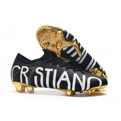 Cristiano Ronaldo Nike Mercurial Vapor 12 Elite CR7 FG Black Golden