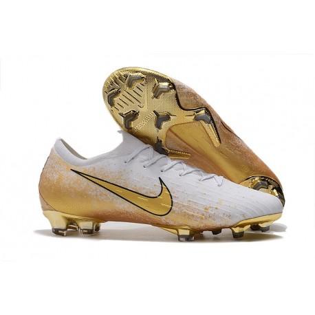Nike Mercurial Vapor XII 360 Elite FG Shoes White Gold