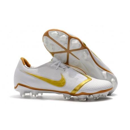 Nike Phantom VNM Elite FG Soccer Boots White Gold