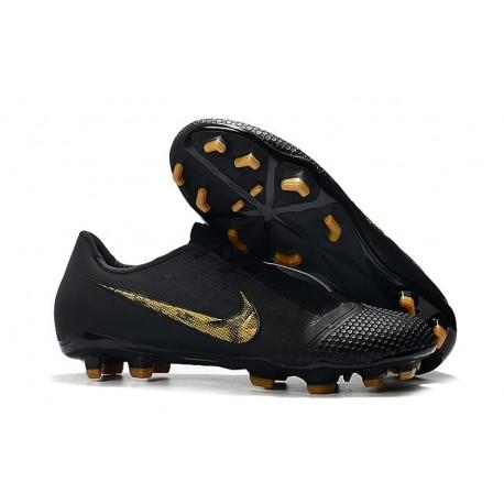 Nike Phantom VNM Elite FG Soccer Boots Black Metallic Gold