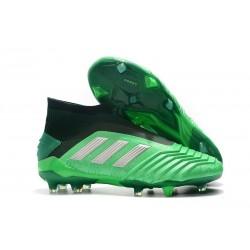 adidas Predator 19+ FG Firm Ground Boots - Green Silver