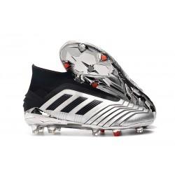 adidas Predator 19+ FG Firm Ground Boots - Silver Black