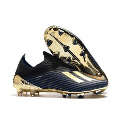 adidas X 19+ FG Soccer Cleats Inner Game Black Gold