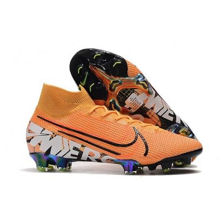 Nike Mercurial Superfly 7 Elite FG Soccer Cleats Orange White Black