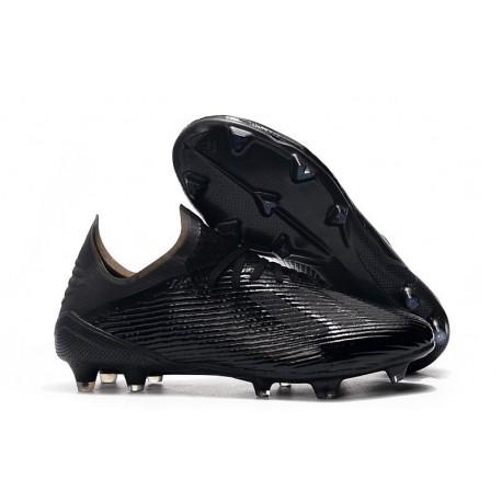 adidas X 19.1 FG Soccer Cleats - Full Black