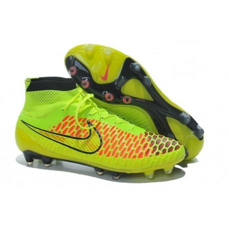 Nike New Men Football Shoes Magista Obra FG ACC Volt Gold Hyper Punch
