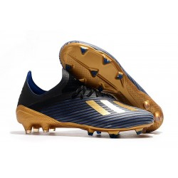 adidas X 19.1 FG Soccer Cleats - Core Black Gold Metalic Blue