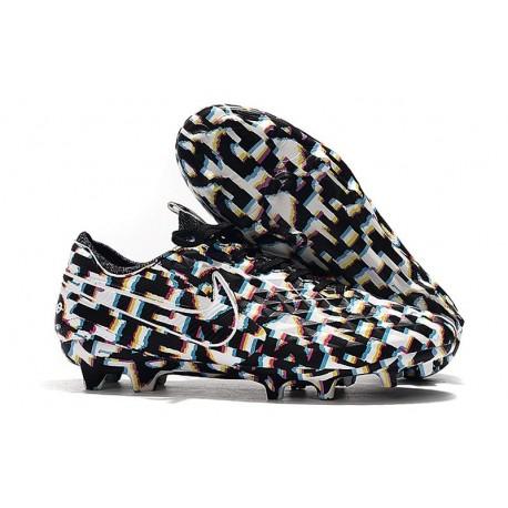 Nike Tiempo Legend VIII Elite FG Cleats Black White