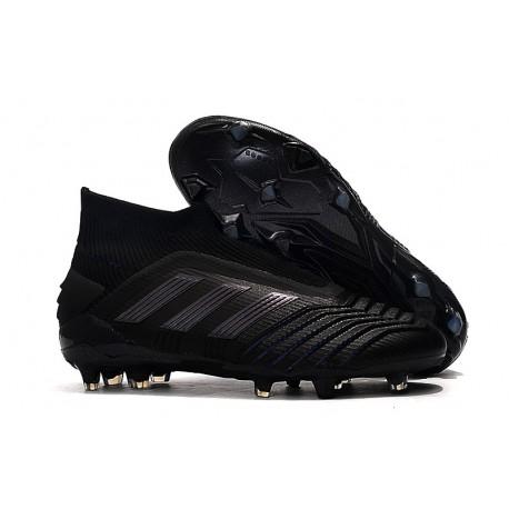 adidas Predator 19+ FG Firm Ground Boots - All Black