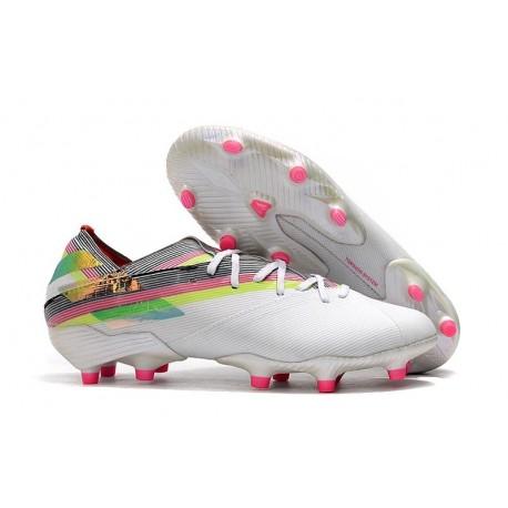adidas Nemeziz 19.1 FG Soccer Cleats White Multicolor