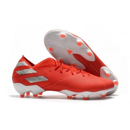 adidas Nemeziz 19.1 FG Soccer Cleats Active Red Silver