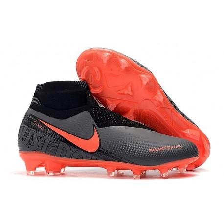 Nike Phantom Vision Elite DF FG 2019 Cleats Black Bright Crimson