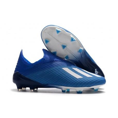 adidas X 19+ FG Soccer Cleats Blue White