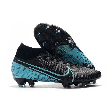 Nike Mercurial Superfly 7 Elite FG Soccer Cleats Black Blue