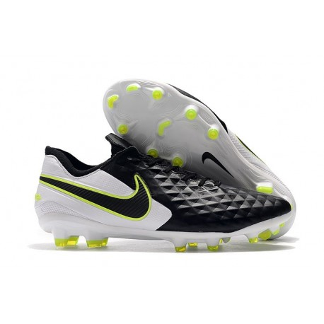 Nike Tiempo Legend VIII Elite FG Cleats Black White