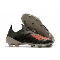 adidas X 19+ FG Soccer Cleats Legacy Green Solar Orange Chalk