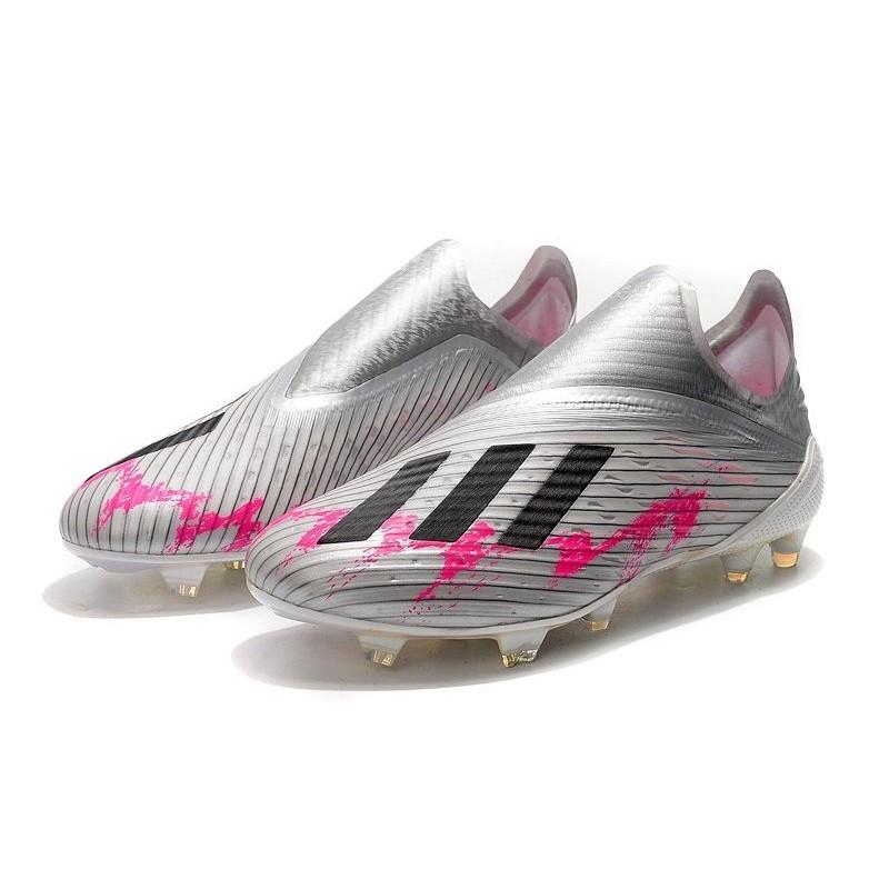 adidas X 19+ FG Soccer Cleats Silver Black Pink