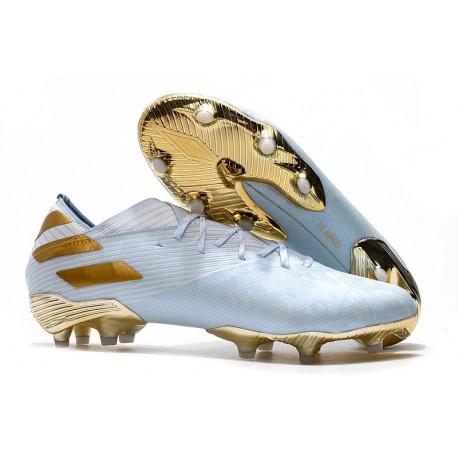 adidas Nemeziz 19.1 FG Soccer Cleats Bold Aqua Gold