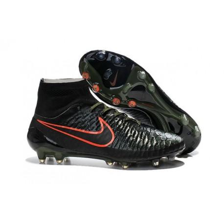New 2015 Nike Magista Obra FG ACC Men Soccer Cleats Black Rough Green Hyper Crimson