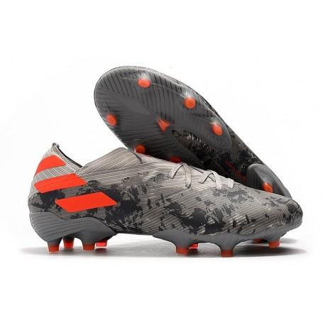 adidas Nemeziz 19.1 FG Soccer Cleats Grey Orange Chalk