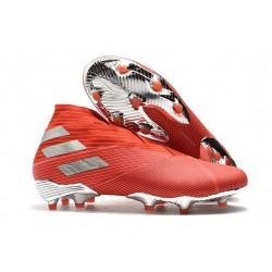 adidas Nemeziz 19+ FG Soccer Cleats Red Silver