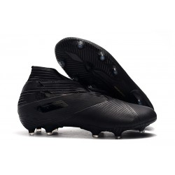 adidas Nemeziz 19+ FG Soccer Cleats All Black