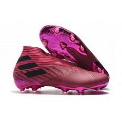 adidas Nemeziz 19+ FG Soccer Cleats Pink Black