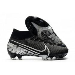 New Nike Mercurial Superfly VII Elite SE FG Boots Black Metallic Cool Grey