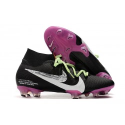 New Nike Mercurial Superfly VII Elite SE FG Black Purple White