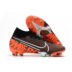 Nike Mercurial Superfly VII Elite FG Limited Edition Black White Hyper Crimson